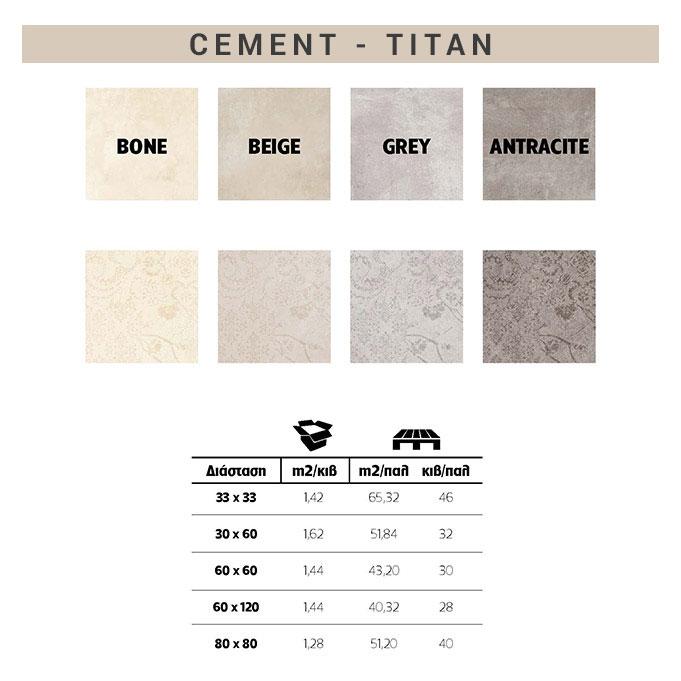 πλακάκια τιταν cement χρώματα