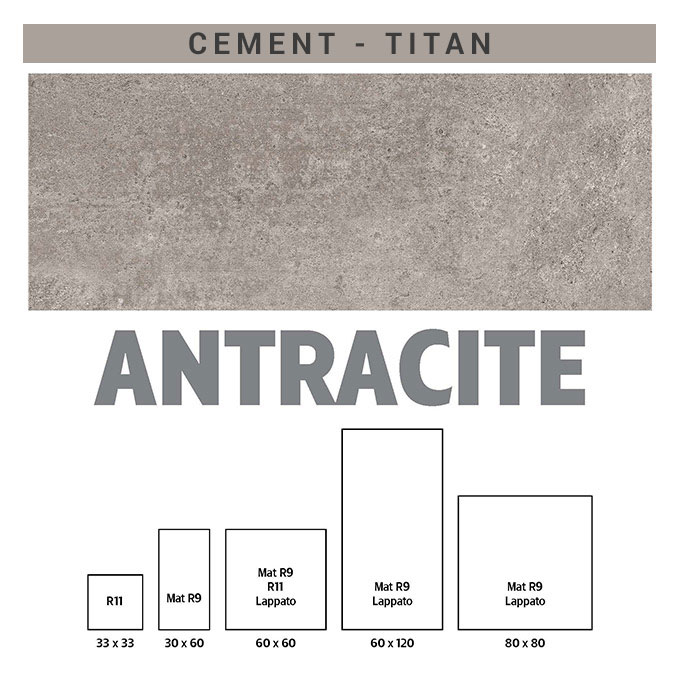 πλακάκια τιταν cement antracite