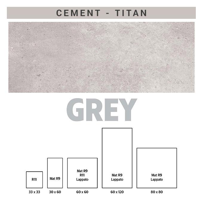 πλακάκια τιταν cement grey
