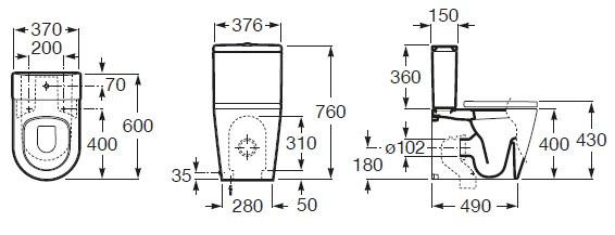 ρόκα λεκάνης με καπάκι λευκό sc diagram